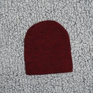 Other - NWOT Black Red Beanie